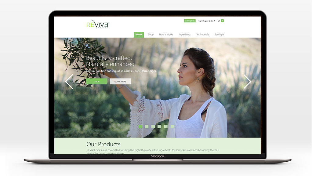 Matt Ordeshook Design Photography Revive Pro Hair E-Commerce