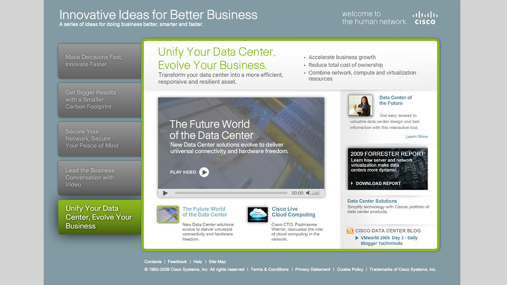 Cisco micro-website design