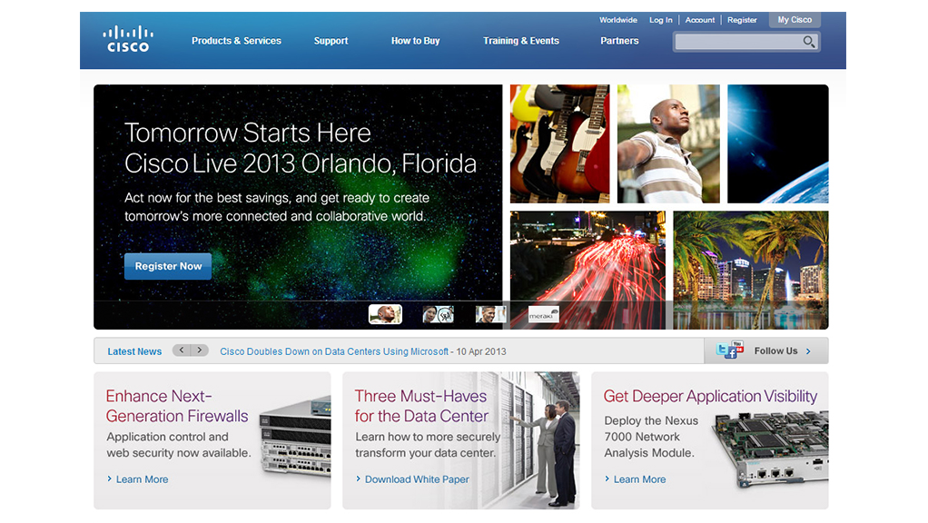 Cisco Live Website Design