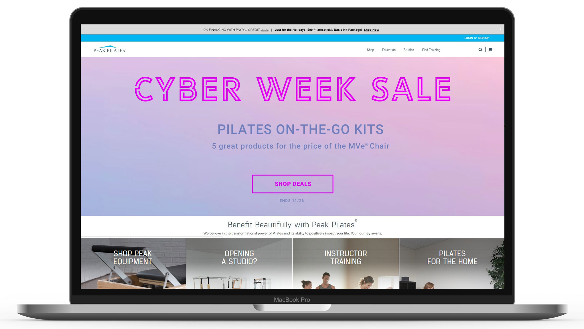 Los Angeles Web Design for Peak Pilates