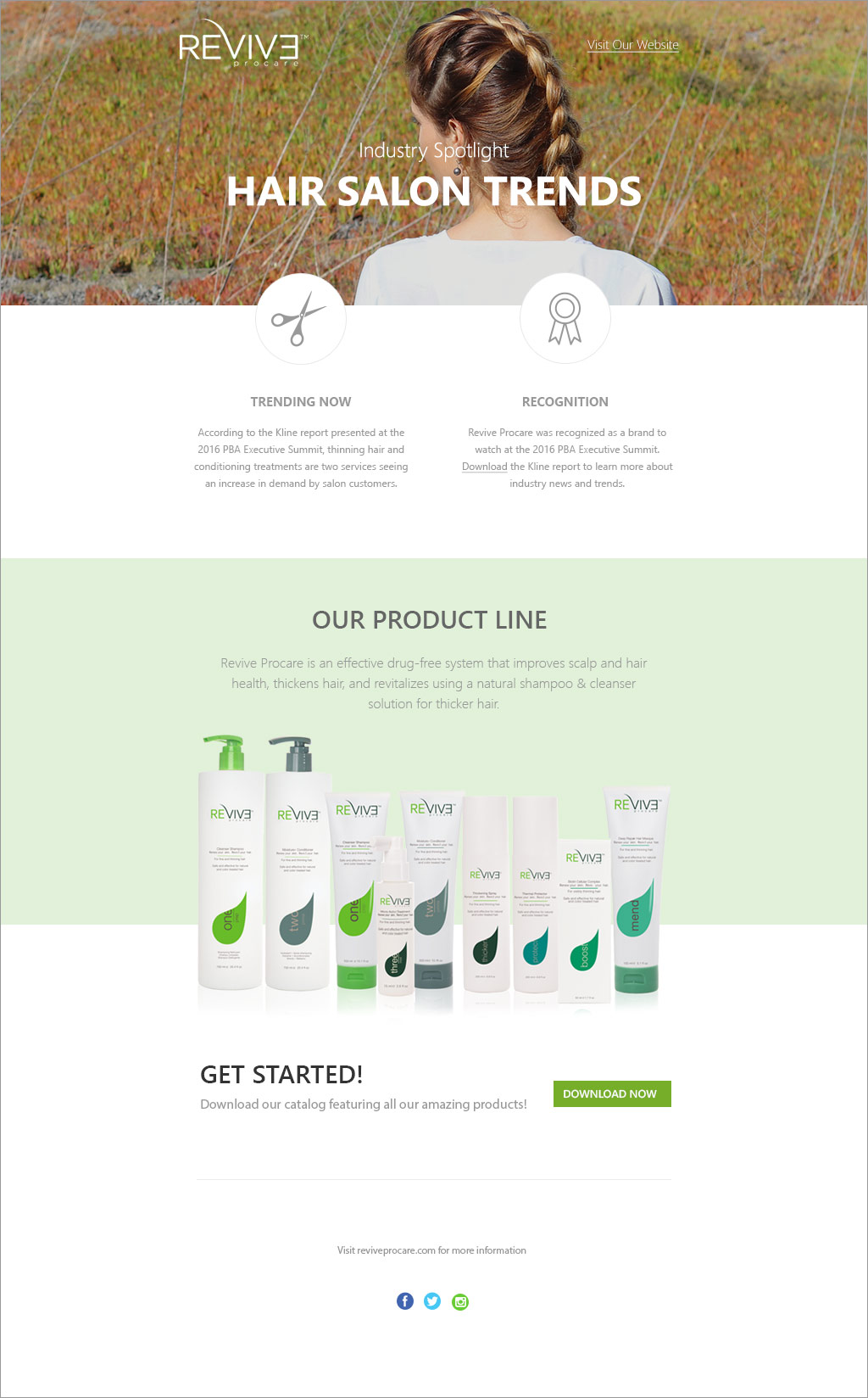 Email Design for Revive Procare