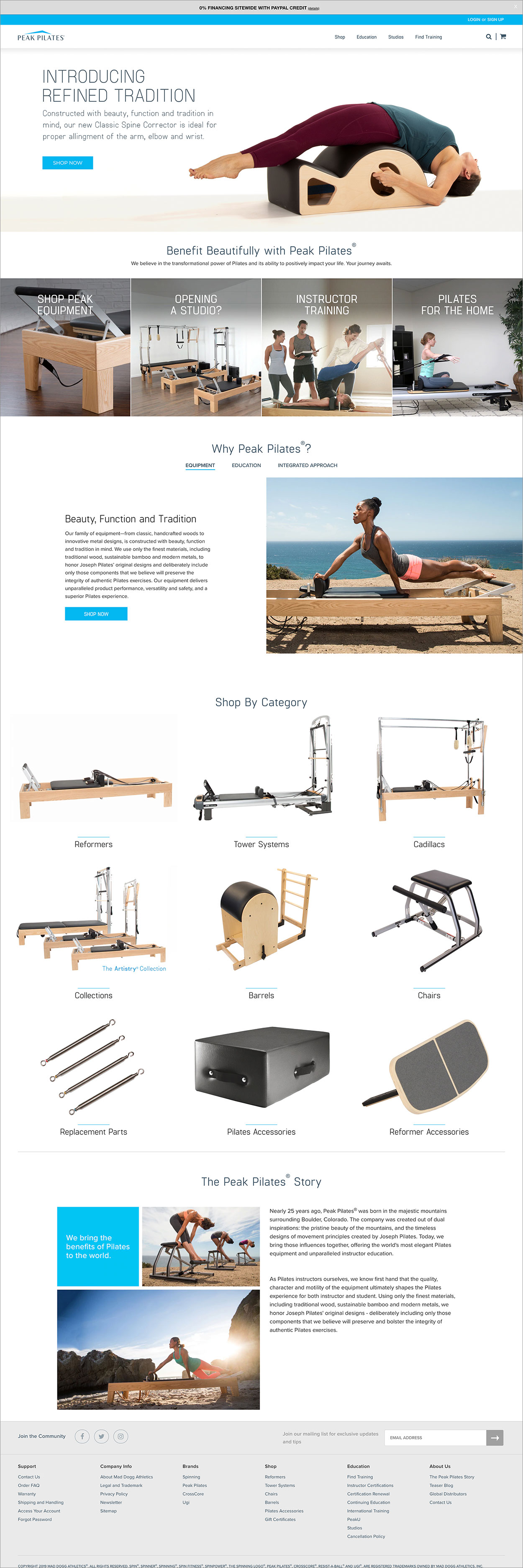Webdesign For Peak Pilates